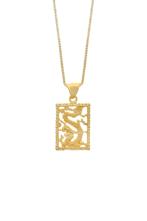 Blaze Dragon Necklace - Gold Filled image-Chvker Jewelry