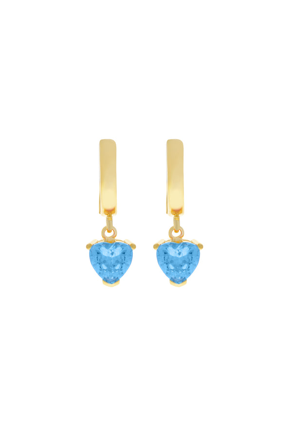 Blue Chéri Heart Vermeil Earrings image-Chvker Jewelry