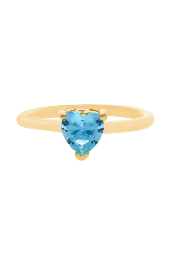 Blue Chéri Heart Vermeil Ring image-Chvker Jewelry