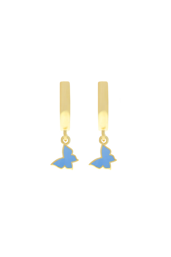 Blue Trixie Butterfly Vermeil Earrings-Chvker Jewelry