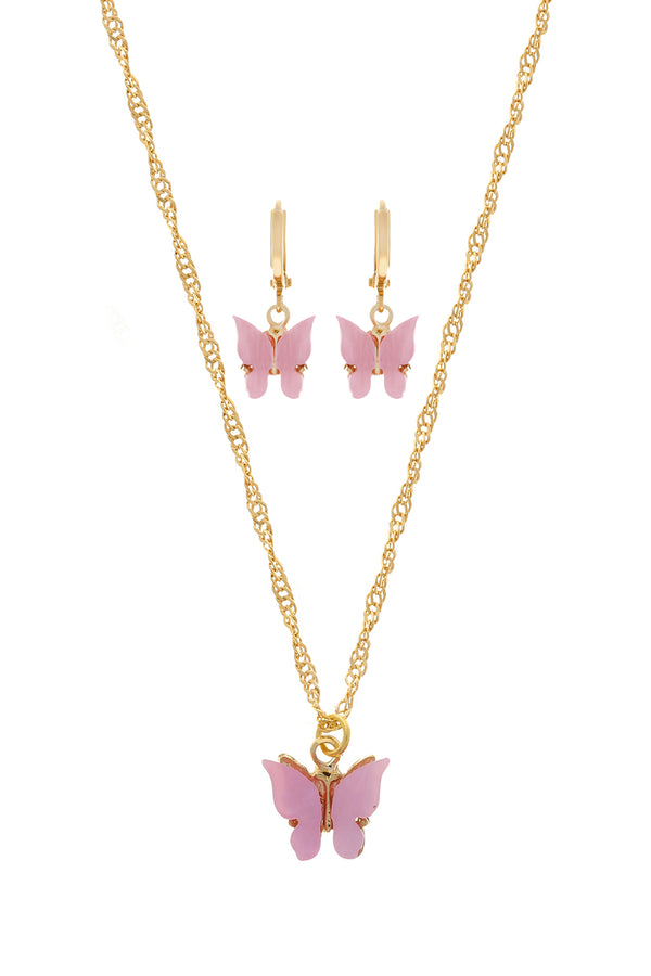 Blush Butterfly Set image-Chvker Jewelry