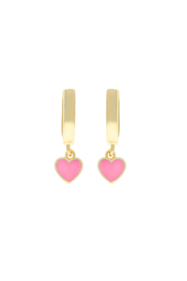 Bubblegum Heart Vermeil Earrings
