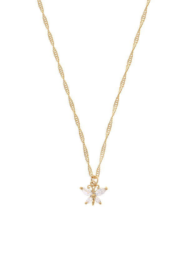 Butterfly Garden CZ Necklace-Chvker Jewelry