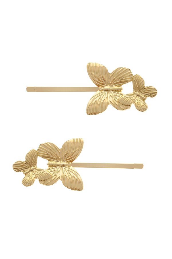 Butterfly Hairpin (Pack of 2) image-Chvker Jewelry