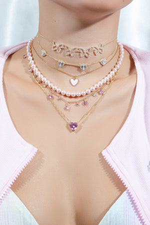 Classic Pink Pearl Vermeil Necklace