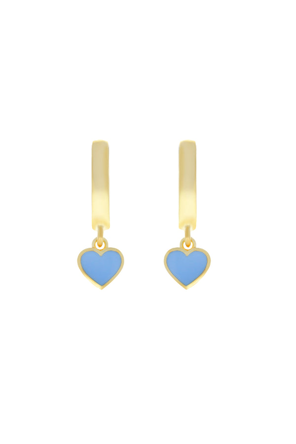 Cotton Candy Heart Vermeil Earrings-Chvker Jewelry