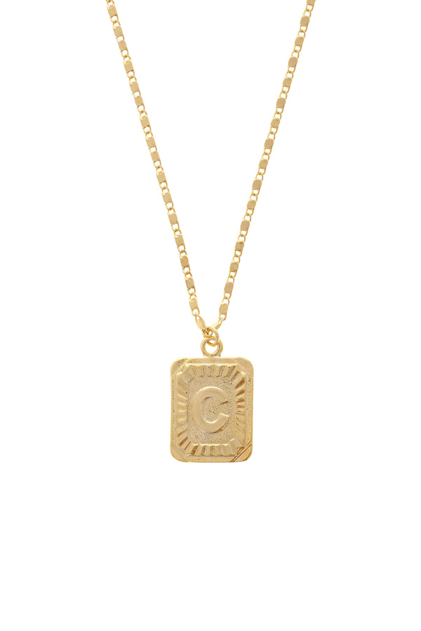 Custom Block Initial Unisex Chain