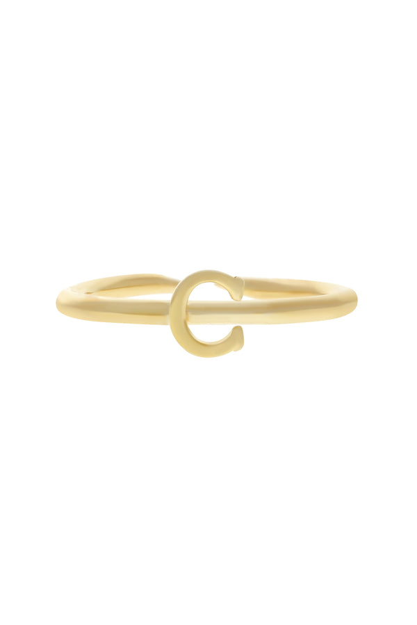 Custom Initial Vermeil Ring-Chvker Jewelry