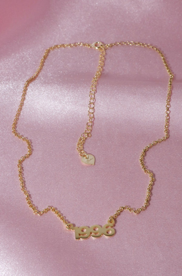 Custom Year Vermeil Necklace-Chvker Jewelry