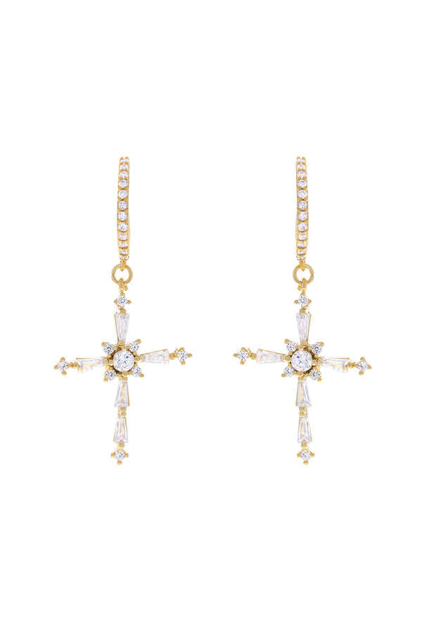 Icon Cross Earrings
