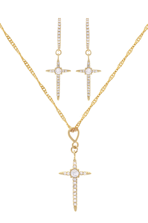 Diva Cross Set image-Chvker Jewelry