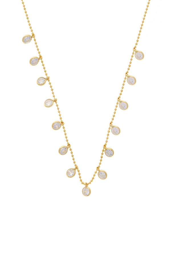 Eden Bezel CZ Vermeil Necklace-Chvker Jewelry