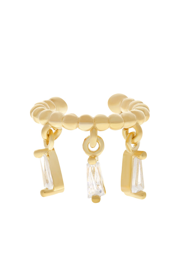 Eve CZ Vermeil Ear Cuff-Chvker Jewelry