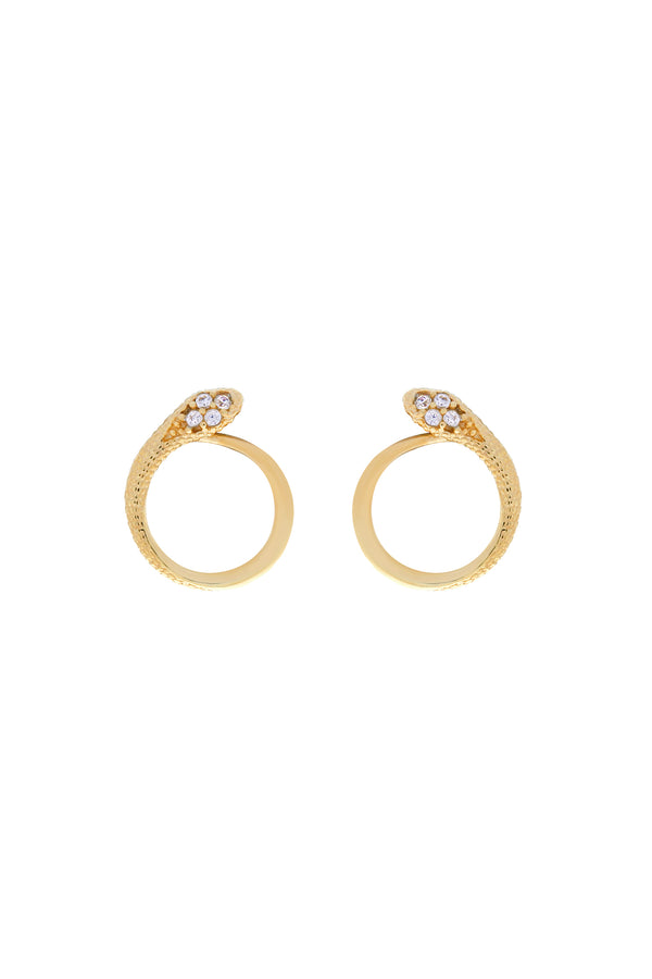 Felix Snake Vermeil Stud Earrings-Chvker Jewelry