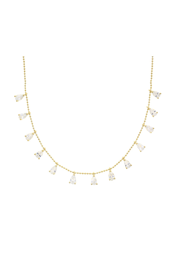 Gianna Dangle Vermeil Choker-Chvker Jewelry