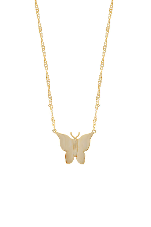 Gold Butterfly Vermeil Necklace-Chvker Jewelry
