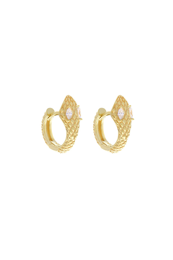 Hendrix Snake Vermeil Earrings-Chvker Jewelry