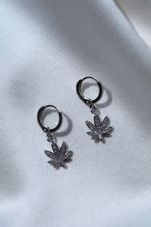 Silver High Times Earrings-Chvker Jewelry