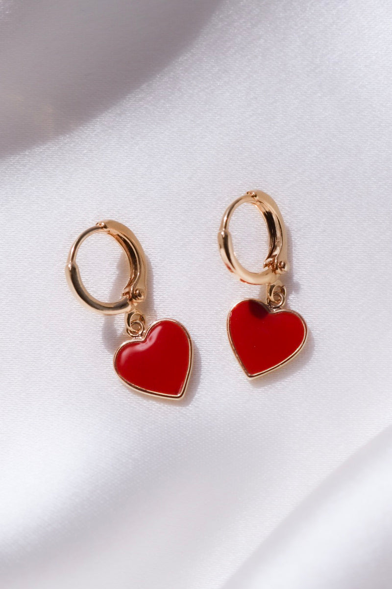 Valentine Heart Earrings-Chvker Jewelry