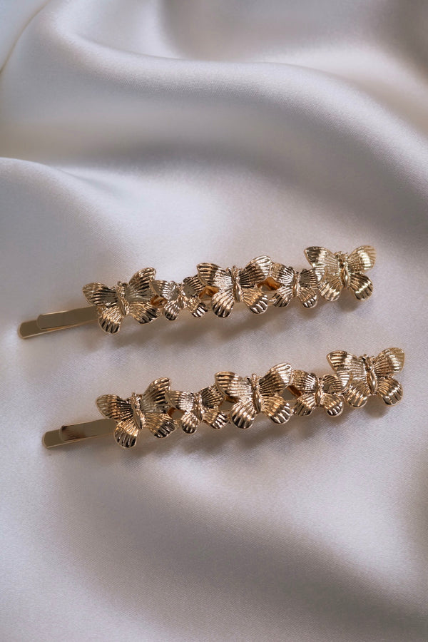 Butterfly Glam Hair Pins (Pack of 2)-Chvker Jewelry