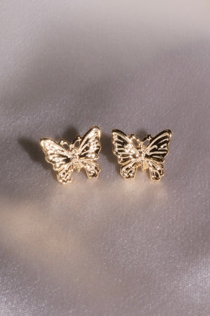 Golden Dream Butterfly Studs-Chvker Jewelry