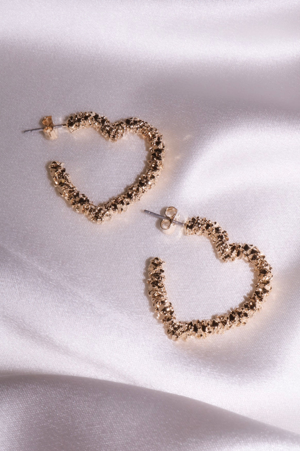 Loving You Heart Hoops-Chvker Jewelry
