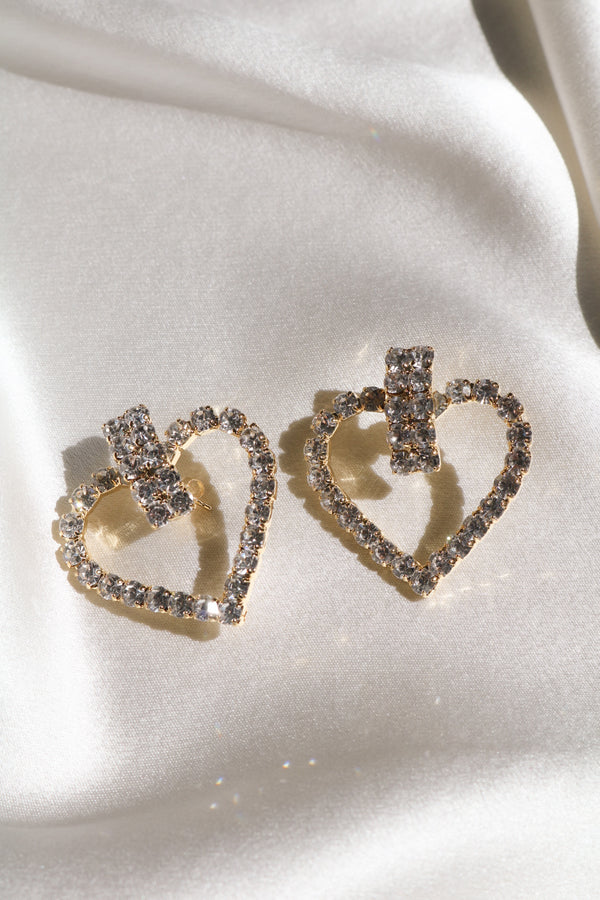 In Your Dreams Heart Earrings-Chvker Jewelry