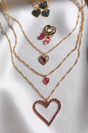 Pink Lovers Set-Chvker Jewelry