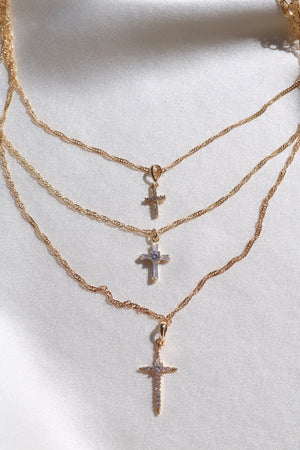 Sacred Cross Set-Chvker Jewelry