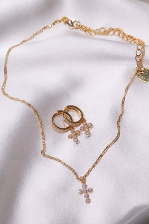 Trinity Cross Set-Chvker Jewelry