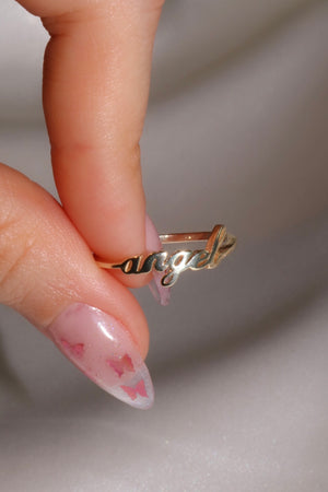 Angel Vermeil Ring-Chvker Jewelry