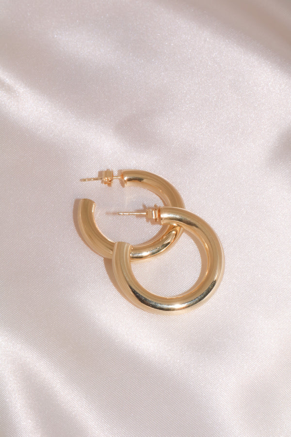 Medium Hollow Vermeil Hoops