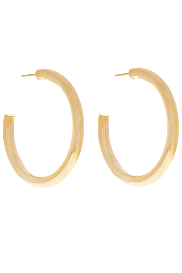 Large Hollow Vermeil Hoops-Chvker Jewelry