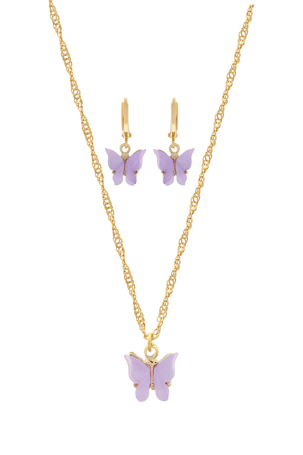Lavender Butterfly Set