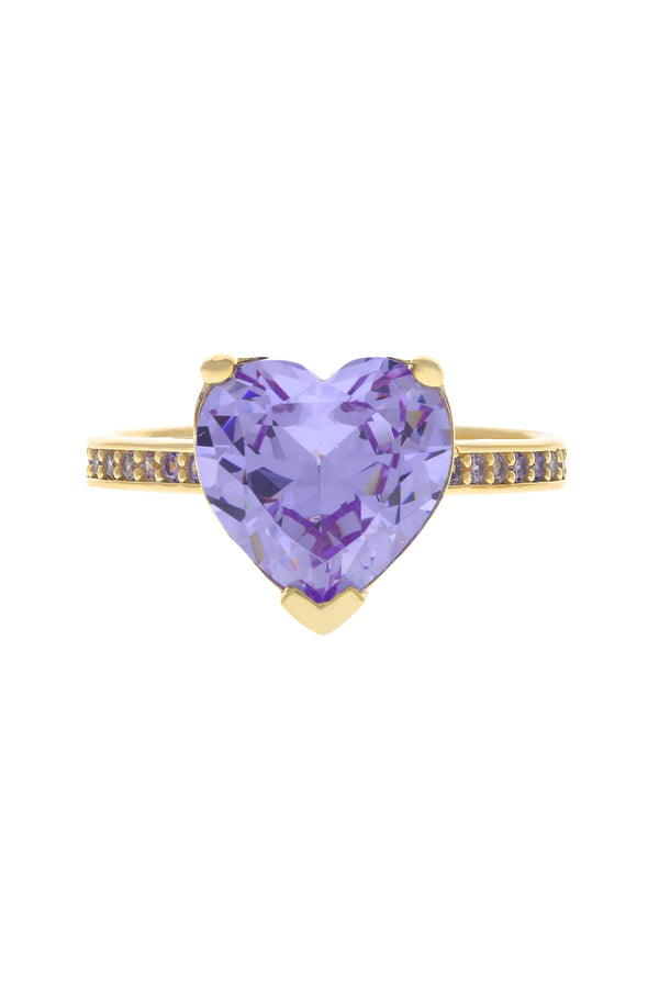 Lavender Paris Heart Vermeil Ring