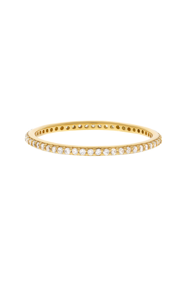 Leia Pavé Stacking Vermeil Ring-Chvker Jewelry