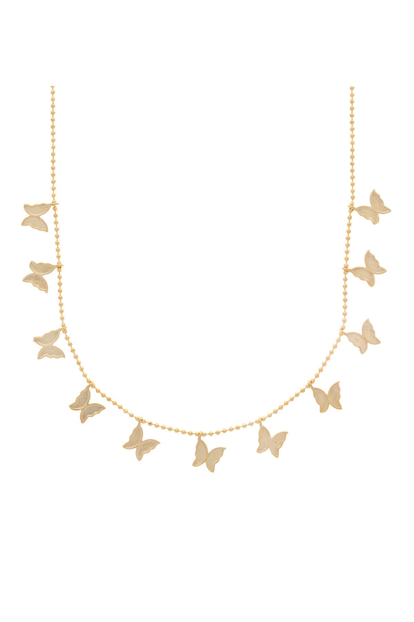 Lilia Multi Butterfly Vermeil Necklace-Chvker Jewelry