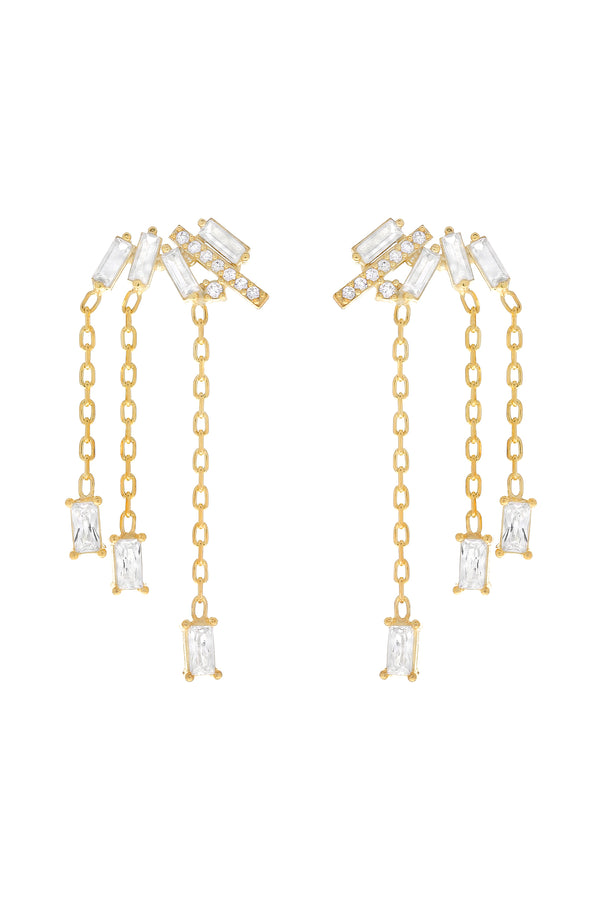 Luci Ear Climber Earrings-Chvker Jewelry