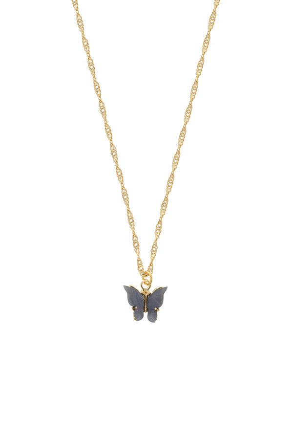 Midnight Butterfly Necklace-Chvker Jewelry