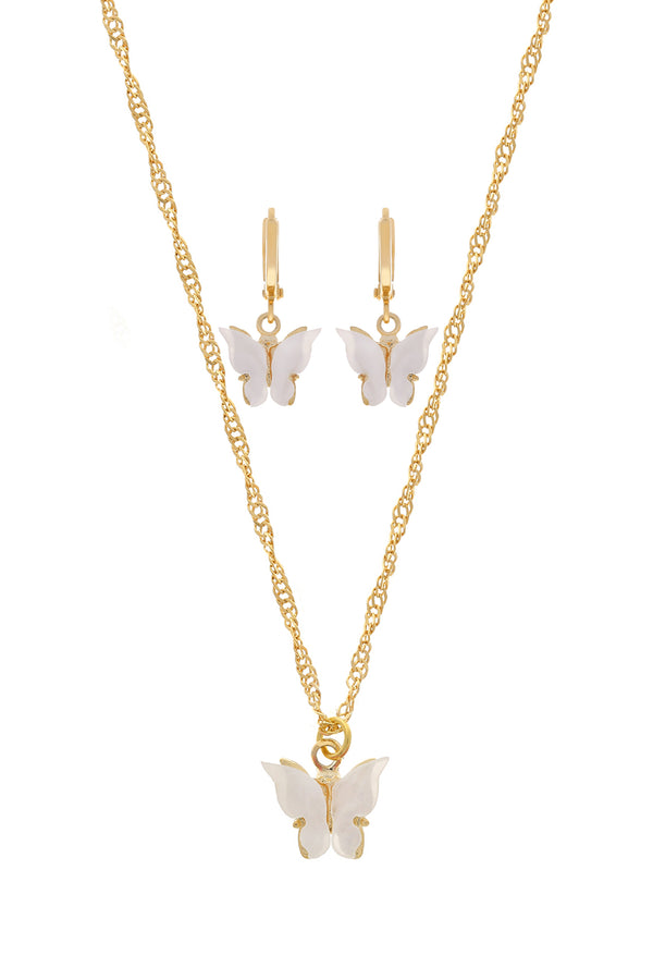 Pearl Butterfly Set image-Chvker Jewelry