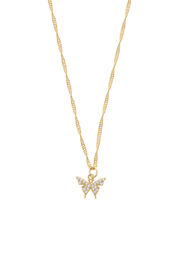 Petite Butterfly Gold Filled Necklace