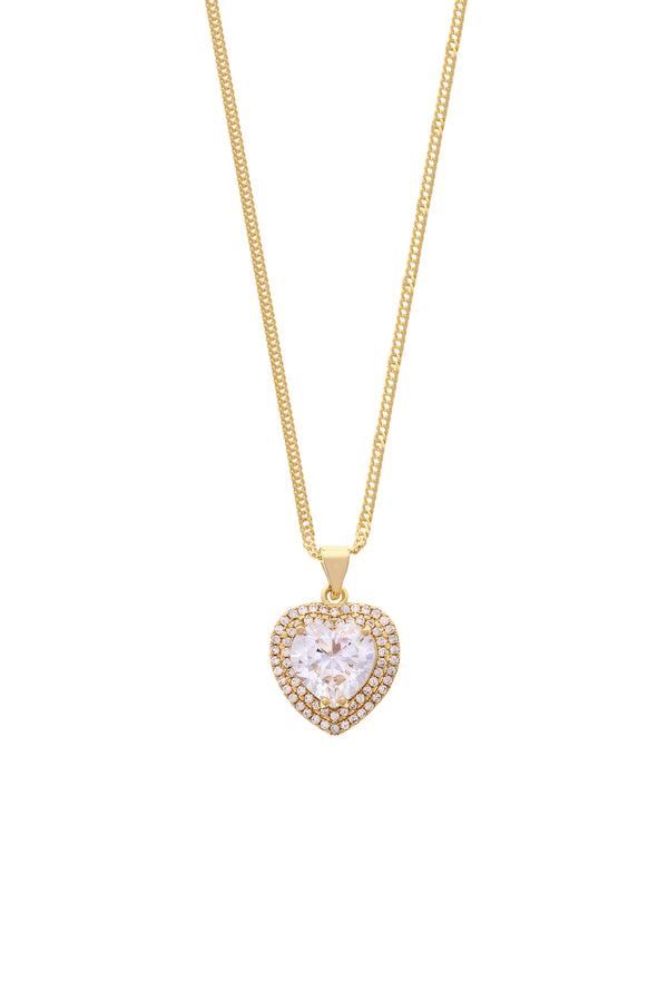 Princess Heart Gold Filled Necklace