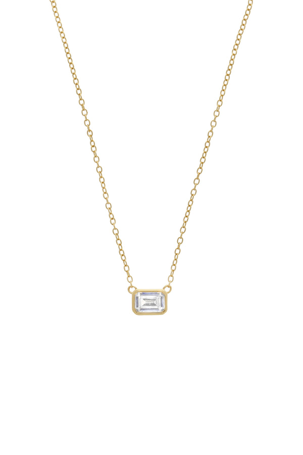 Priya Emerald Cut Vermeil Necklace-Chvker Jewelry