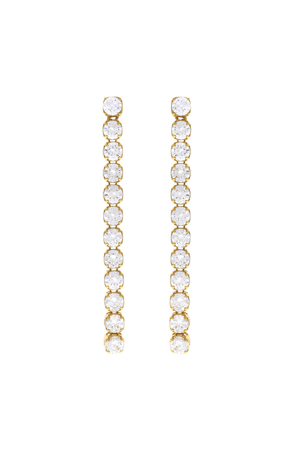 Rani Tennis Chain Vermeil Earrings-Chvker Jewelry