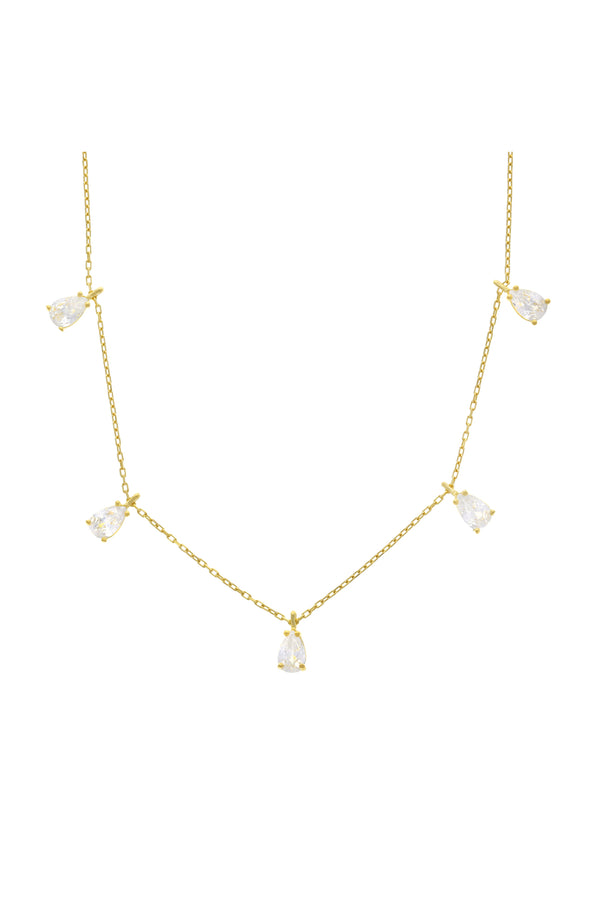 Serena Dangle Vermeil Necklace-Chvker Jewelry