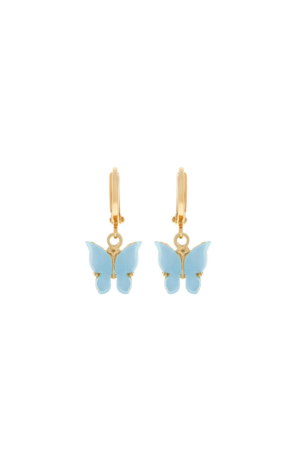 Sky Butterfly Huggie Earrings