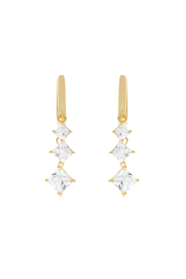 Vera CZ Dangle Vermeil Earrings-Chvker Jewelry