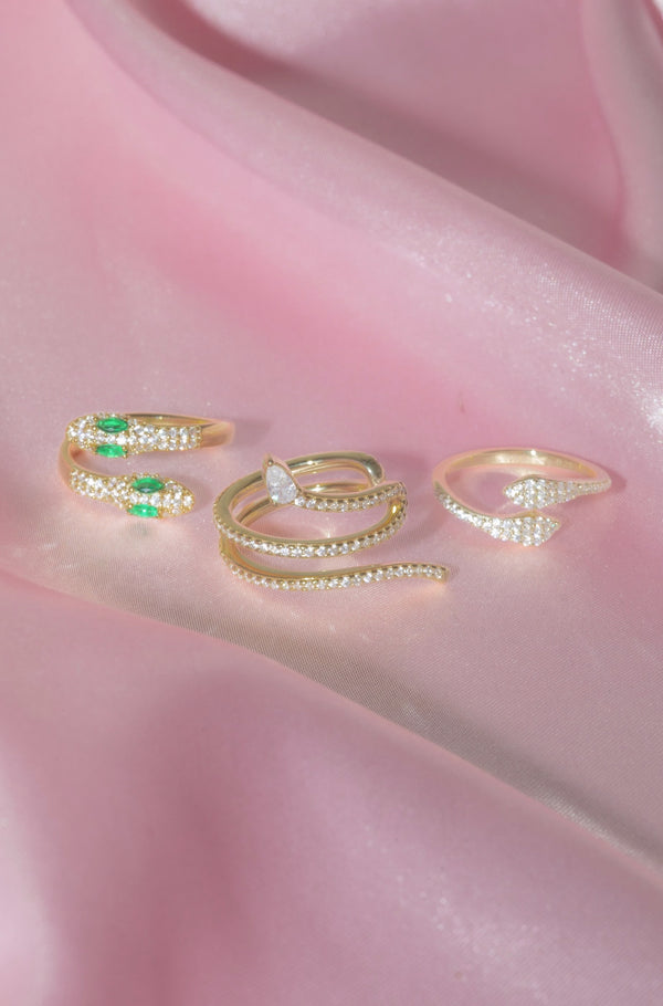 Vermeil Snake Rings Set-Chvker Jewelry