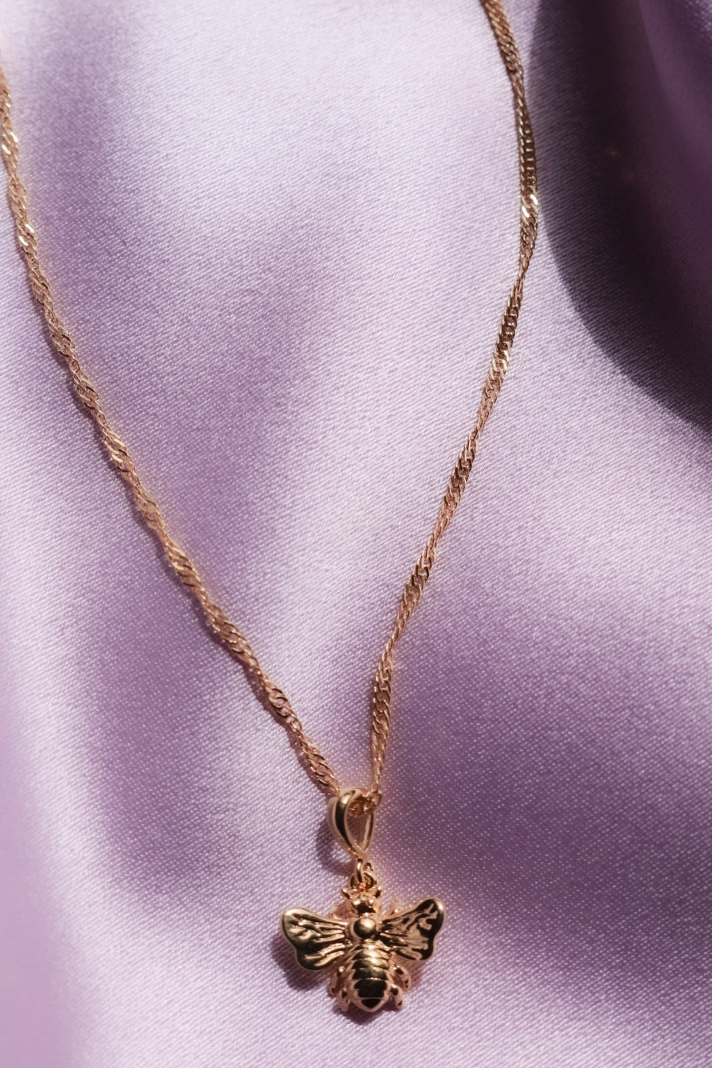 Gold Plated Honey Bee Necklace
