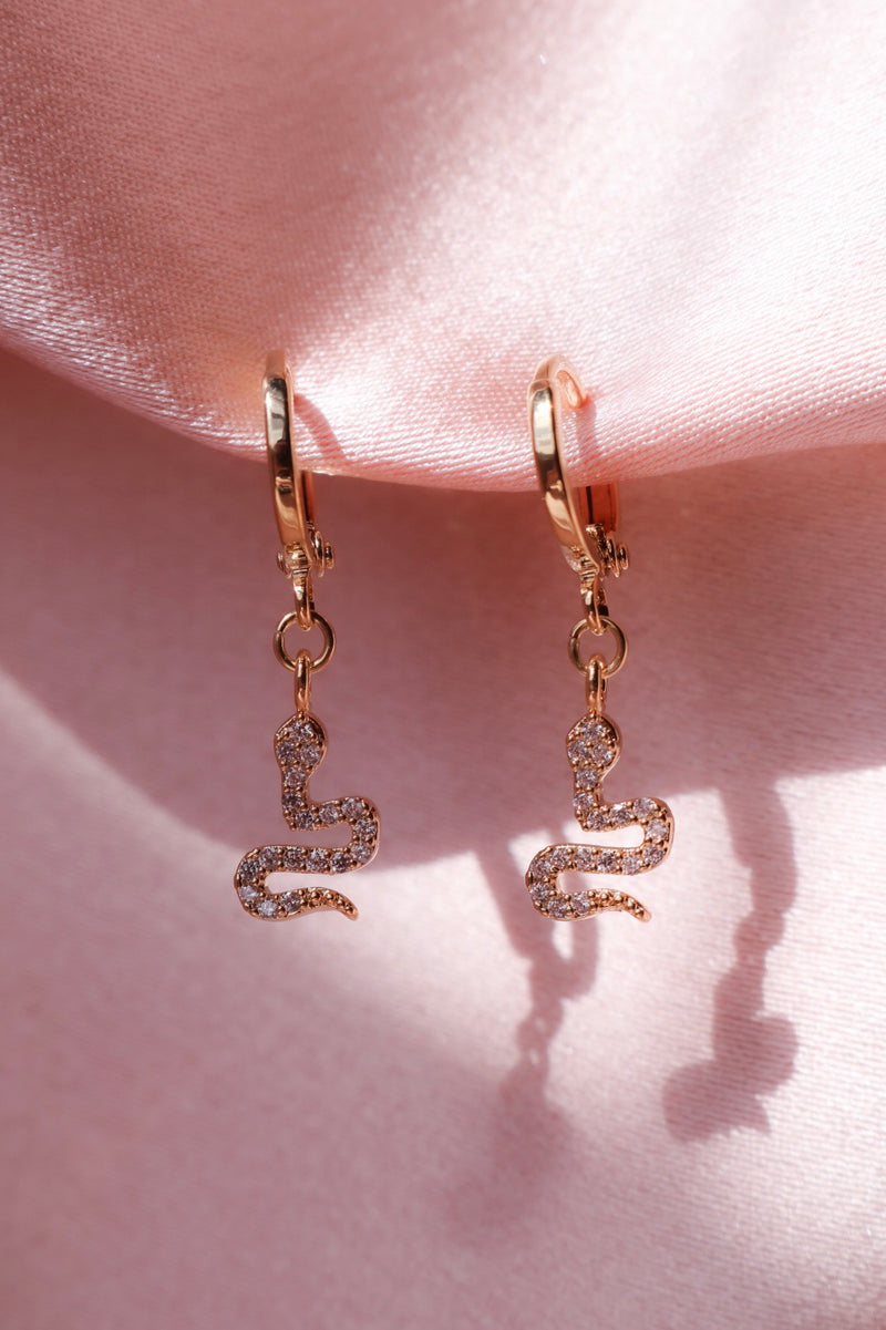 Forbidden Love Snake Earrings